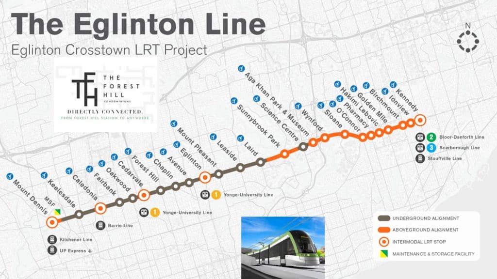 EGLINTON LRT MAP